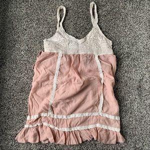 ❤️Poetry Clothing-Long tank tunic-Bohemian crochet